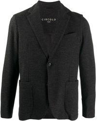 Circolo 1901 テクスチャード ジャケット - ブラック