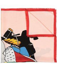 Lanvin Babar-print Silk Scarf - Multicolor