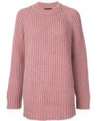 CALVIN KLEIN 205W39NYC オーバーサイズ セーター - ピンク