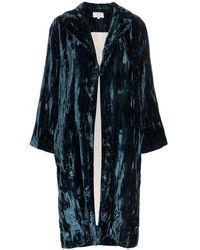 Collina Strada Crushed Velvet Robe - Blue