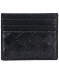 Bottega Veneta イントレチャート カードケース - ブルー