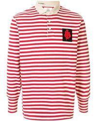 Kent & Curwen ストライプ ポロシャツ - レッド