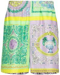 Versace Шорты С Принтом - Зеленый