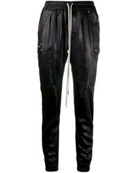Rick Owens ドローストリング テーパードパンツ - ブラック