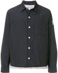 Moncler Gamme Bleu Cropped Shirt Jacket - Blue