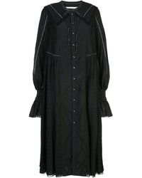 Renli Su レーストリム ドレス - ブラック