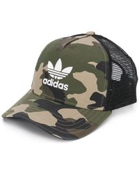 adidas - Trucker Camouflage Cap - Lyst