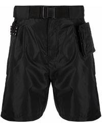 McQ マルチポケット ショートパンツ - ブラック