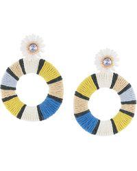 MaryJane Claverol Oversized-Ohrringe mit Perlen - Mehrfarbig