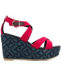 Tommy Hilfiger - Patterned Wedge Sandals - Lyst