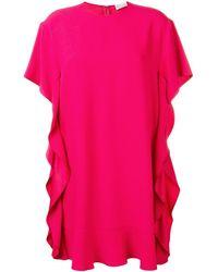 RED Valentino - ラッフル ドレス - Lyst