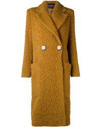 Erika Cavallini Semi Couture Chunky Single-breasted Coat - Brown