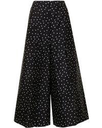 Carolina Herrera Pantalones con motivo de lunares - Negro