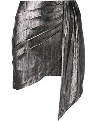 retroféte Draped Fitted Skirt - Metallic