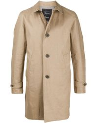 Herno Natural Flax Trench Coat