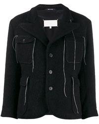Maison Margiela スレッドディテール ジャケット - ブラック