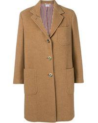Thom Browne Camel Hair Sack Overcoat - Brown