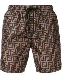 Fendi Monogram Print Shorts