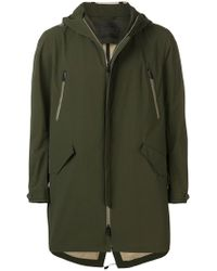 Herno - Hooded Zipped Coat - Lyst