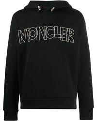 3 MONCLER GRENOBLE ロゴ パーカー - ブラック