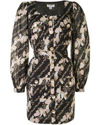 We Are Kindred Bronte Paisley-print Mini Dress - Black