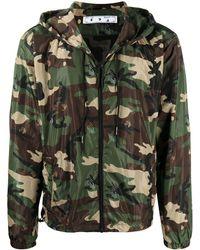 Off-White c/o Virgil Abloh Ow Logo Camouflage Jacket - Green