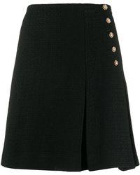 Edward Achour Paris Side Button Short Skirt - Black
