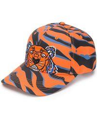 KENZO - Tiger Print Cap - Lyst