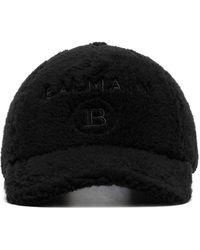 Balmain ロゴ キャップ - ブラック
