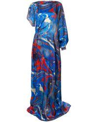 Rosie Assoulin - Marble Print Asymmetric Dress - Lyst