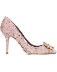 Dolce & Gabbana Декорированные Кружевные Туфли - Розовый