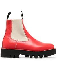 Sofie D'Hoore Ботинки С Контрастными Вставками - Красный