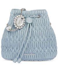 Miu Miu ビジューバケットバッグ - ブルー