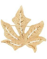 Dior Pre-owned Autumn Leaf Brooch - Metallic