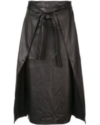 Rosetta Getty - Apron Wrap Skirt - Lyst