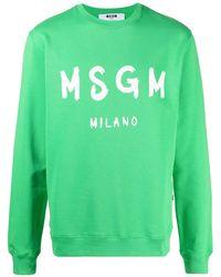 MSGM Толстовка С Логотипом - Зеленый