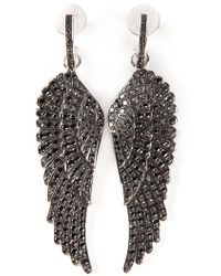 Garrard - Diamond Wing Earrings - Lyst