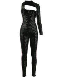 NO KA 'OI One Sleeve Sequin Jumpsuit - Black