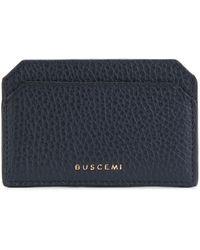Buscemi ロゴプリント カードホルダー - ブルー