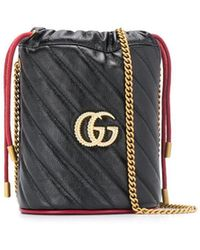 Gucci - GGマーモント バケットバッグ ミニ - Lyst