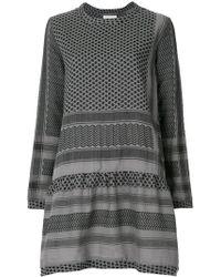 Cecilie Copenhagen Robe courte à mélange de motifs - Gris