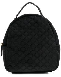 Tosca Blu Quilted Small Backpack - ブラック