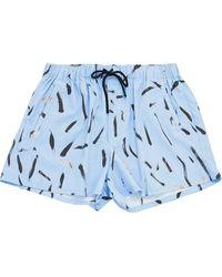 Christopher Kane Shorts mit Print - Blau