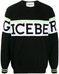 Iceberg ロゴ セーター - ブラック