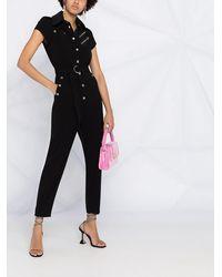Boutique Moschino ベルテッド ジャンプスーツ - ブラック