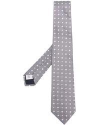 Tagliatore Patterned Tie - Gray