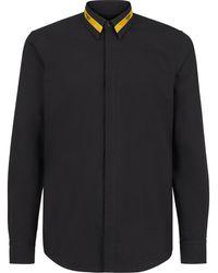 Fendi Рубашка С Логотипом - Черный