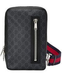 5bf8f441b Gucci Gg Marmont Matelassé Portfolio in Black for Men - Lyst