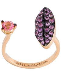 Delfina Delettrez - 'lips Piercing' Sapphire Ring - Lyst