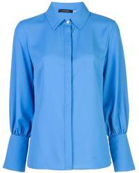 Natori オーバーサイズ カフス シャツ - ブルー